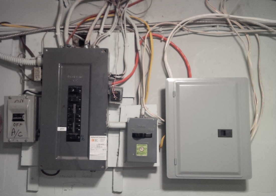 residential wired ready electrical services before fuse panel